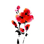 Rubbernecker Stamps - Cling Mounted Rubber Stamp Set - Poppy Bunch