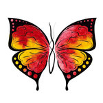 Rubbernecker Stamps - Cling Mounted Rubber Stamp Set - Butterfly 5