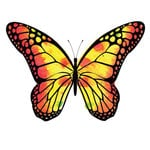 Rubbernecker Stamps - Cling Mounted Rubber Stamp Set - Butterfly 9