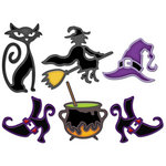 Spellbinders - Shapeabilities Collection - Halloween - Die Cutting and Embossing Templates - Witches Brew
