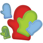 Spellbinders - Shapeabilities Collection - Christmas - Die Cutting and Embossing Templates - Nested Mittens