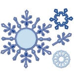 Spellbinders - Shapeabilities Collection - Christmas - Die Cutting and Embossing Templates - Snowflake Pendant