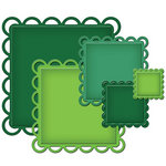 Spellbinders - Nestabilities Collection - Die Cutting and Embossing Templates - Lacey Squares