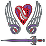 Spellbinders - Shapeabilities Collection - Die Cutting and Embossing Templates - Fallen Angel