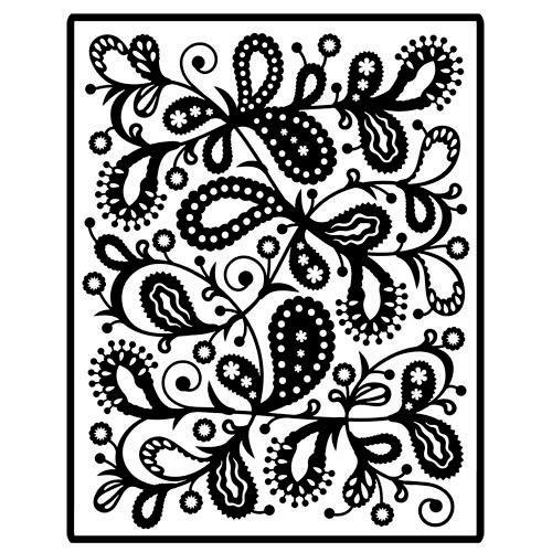 Spellbinders - Impressablilites - Embossing Templates - Paisley