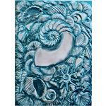 Spellbinders - M-Bossabilities Collection - Embossing Folders - 3-Dimensional - Shell Beauty