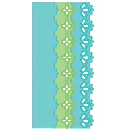 Spellbinders - Edgeabilities Collection - Die Cutting and Embossing Templates - Classic Triple Scallop