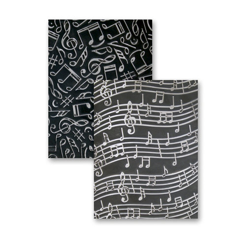 Spellbinders - M-Bossabilities Collection - Embossing Folders - Music