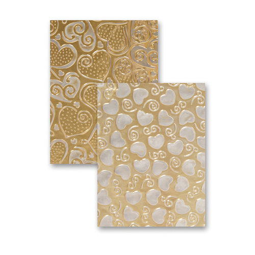 Spellbinders - M-Bossabilities Collection - Embossing Folders - Hearts