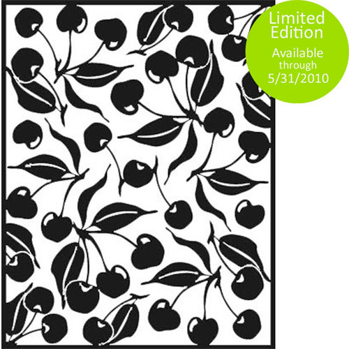 Spellbinders - Impressabilities Collection - Embossing Templates - Cherries, CLEARANCE
