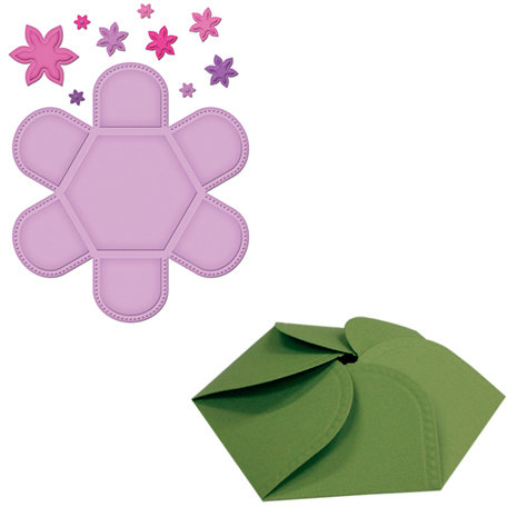 Spellbinders - Grand Box Collection - Die Cutting and Embossing Templates - Hexagon Petal Envelope