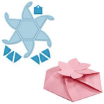 Spellbinders - Grand Box Collection - Die Cutting and Embossing Templates - Hexagon Pinwheel Top Box