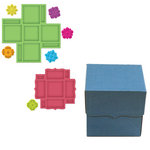 Spellbinders - Grand Box Collection - Die Cutting and Embossing Templates - Square Bracket Edge Box