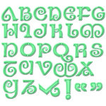 Spellbinders - Grand Nestabilities Collection - Die Cutting and Embossing Templates - Jewel Alphabet
