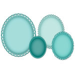 Spellbinders - Grand Nestabilities Collection - Decorative Elements - Grand Decorative Ovals One