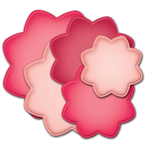 Spellbinders - Grand Nestabilities Collection - Die Cutting and Embossing Templates - Grand Dahlia