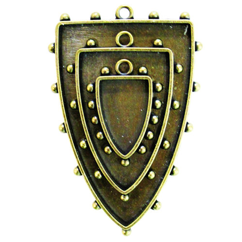 Spellbinders - Media Mixage Collection - Bezels - Shields One - Bronze