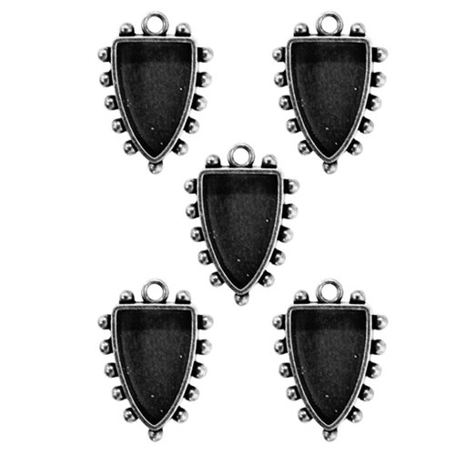 Spellbinders - Media Mixage Collection - Bezels - Shields One - Silver - 5pk