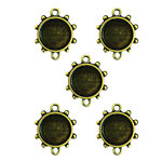 Spellbinders - Media Mixage Collection - Bezels - Circles Three - Bronze - 5pk