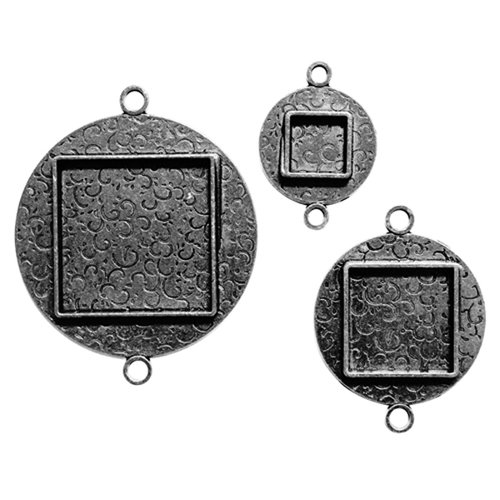 Spellbinders - Media Mixage Collection - Bezels - Circles Two - Silver