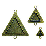 Spellbinders - Media Mixage Collection - Bezels - Triangles Two - Bronze