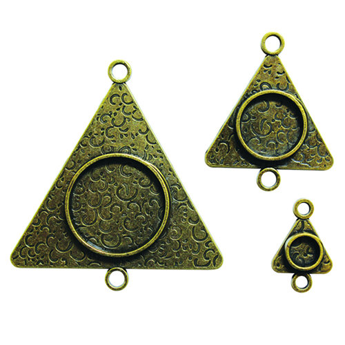 Spellbinders - Media Mixage Collection - Bezels - Triangles Three - Bronze