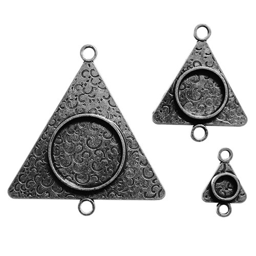 Spellbinders - Media Mixage Collection - Bezels - Triangles Three - Silver