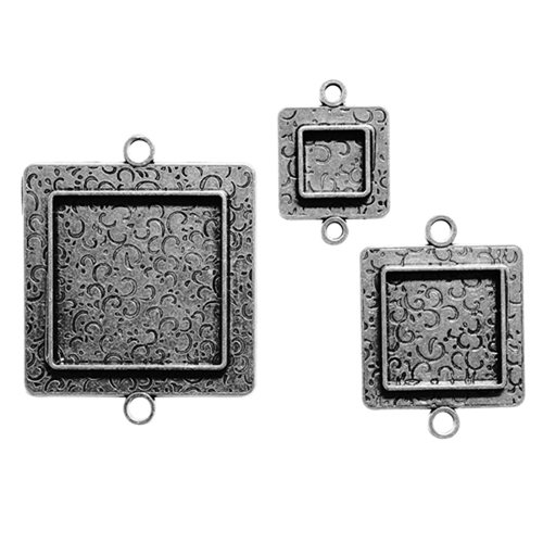 Spellbinders - Media Mixage Collection - Bezels - Squares Two - Silver