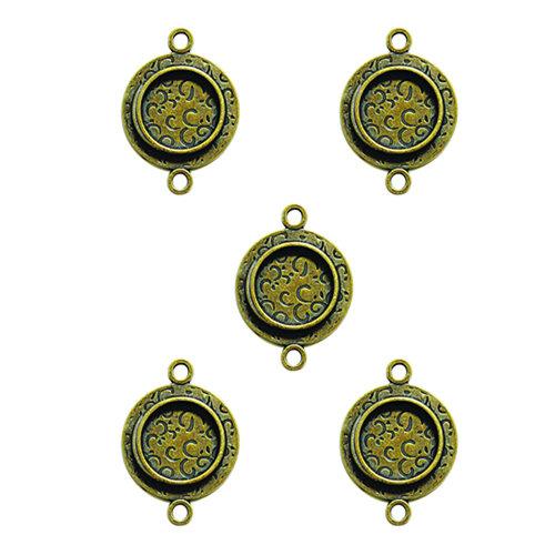Spellbinders - Media Mixage Collection - Bezels - Circles One - Bronze - 5pk