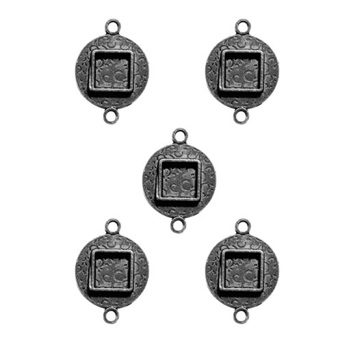 Spellbinders - Media Mixage Collection - Bezels - Circles Two - Silver - 5pk