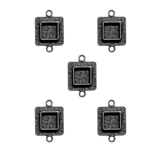 Spellbinders - Media Mixage Collection - Bezels - Squares Two - Silver - 5pk