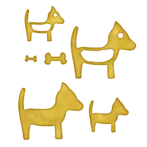 Spellbinders - Media Mixage Collection - Metal Blanks - Dogs One