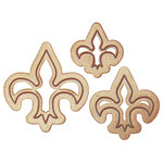 Spellbinders - Media Mixage Collection - Bezel Dies - Die Cutting and Embossing Template - Fleur de Lis