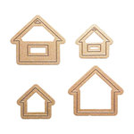 Spellbinders - Media Mixage Collection - Blank Dies - Die Cutting and Embossing Template - Houses One