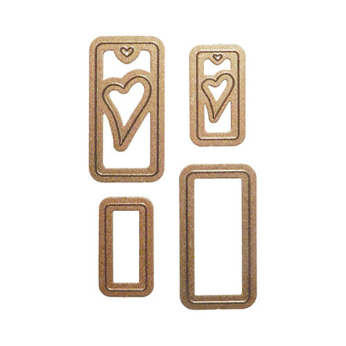 Spellbinders - Media Mixage Collection - Blank Dies - Die Cutting and Embossing Template - Hearts Three