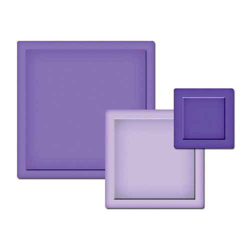 Spellbinders - Presto Punch - Die Cutting and Embossing Template - Squares