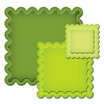 Spellbinders - Presto Punch - Die Cutting and Embossing Template - Scalloped Squares