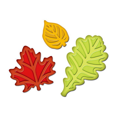 Spellbinders - Presto Punch - Die Cutting and Embossing Template - Fall Leaves