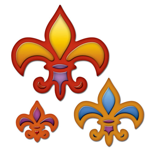Spellbinders - Presto Punch - Die Cutting and Embossing Template - Fleur De Lis