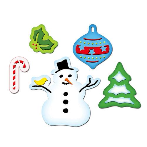 Spellbinders - Presto Punch - Christmas - Die Cutting and Embossing Template - Holiday Joy