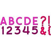 Spellbinders - Presto Punch - Die Cutting and Embossing Template - Font Set - Plain Jane Capital
