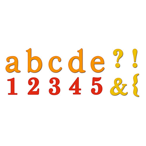 Spellbinders - Presto Punch - Die Cutting and Embossing Template - Font Set - Noble Roman Lower Case