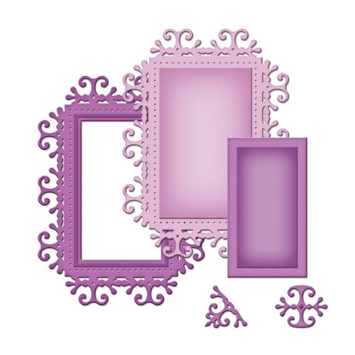 Spellbinders - Shapeabilities Collection -  D-Lites - Die Cutting and Embossing Template - Frame One