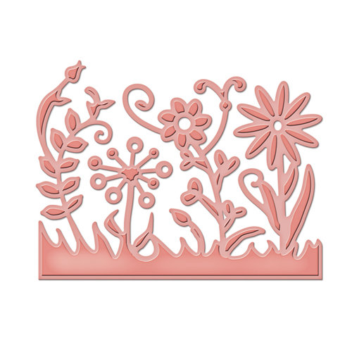 Spellbinders - Shapeabilities Collection -  D-Lites - Die Cutting and Embossing Template - Flower Burst