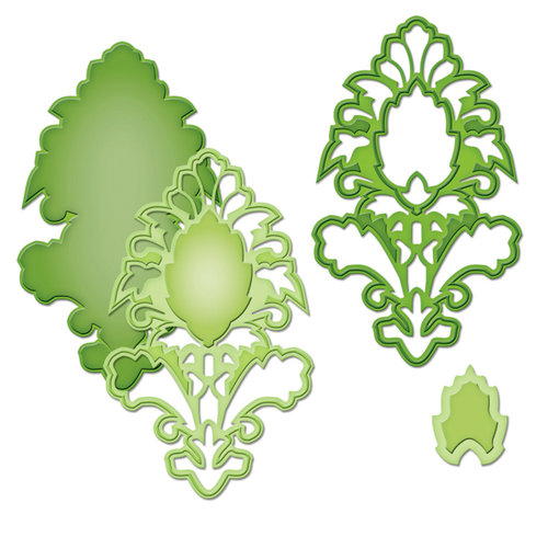 Spellbinders - Shapeabilities Collection -  D-Lites - Die Cutting and Embossing Template - Medallion Six