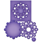 Spellbinders Medallion Seven Die Cutting Template