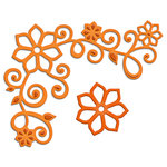 Spellbinders - Shapeabilities Collection - D-Lites - Die Cutting and Embossing Template - Floral Corner One
