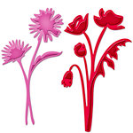 Spellbinders Asters and Poppies Die Cutting Template