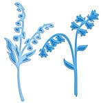 Spellbinders - Shapeabilities Collection - D-Lites - Die Cutting and Embossing Template - Blue Bells and Lily of the Valley