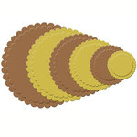 Spellbinders - Nestabilities Collection - Die Cutting and Embossing Templates - Scalloped Circles 2, CLEARANCE